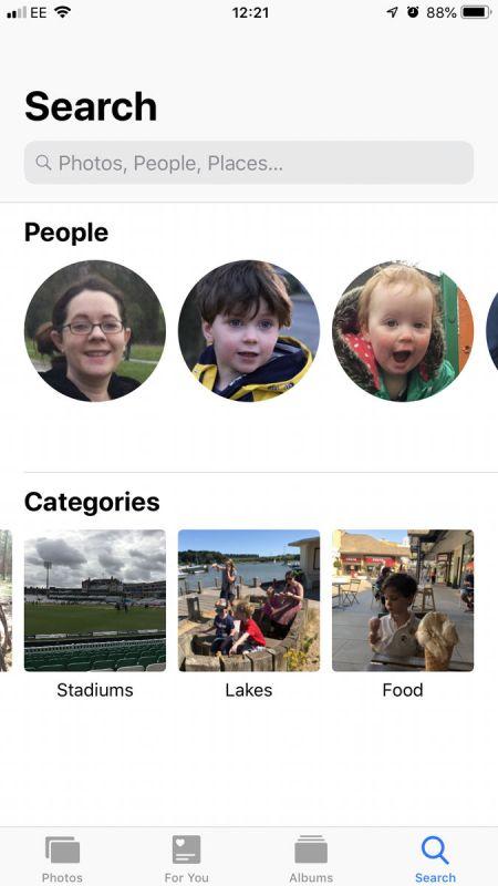 iOS 12 fecha de lanzamiento y nuevas características: las Fotos de la búsqueda