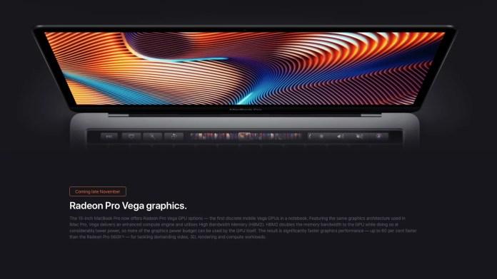Opciones de Gráficos Nuevas MacBook Pro