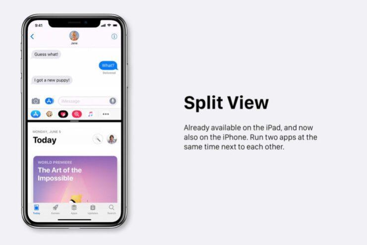 iOS 13 fecha de lanzamiento y nuevas características rumores: la Vista Dividida concepto de ilustración de iOS Noticias Y Más