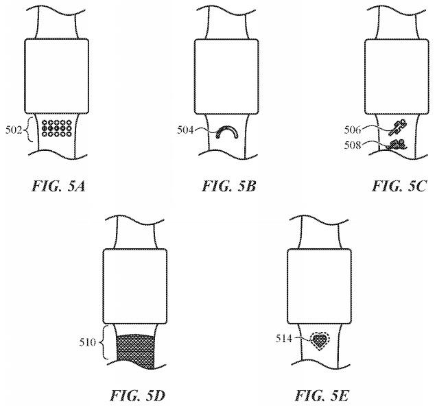 Apple Watch Bandas Con Auto-ajuste, la Textura de la Piel