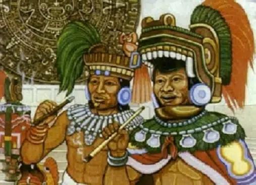 Mayas fumando pipa