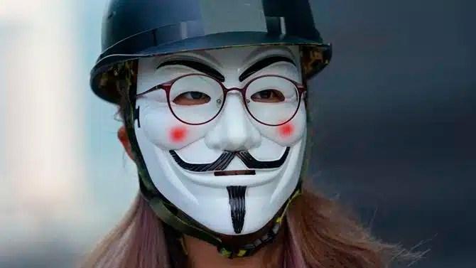 máscaras en manifestaciones