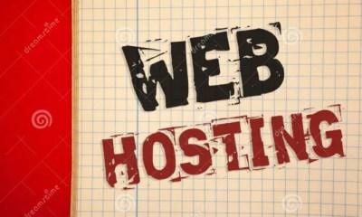 web hosting del texto de la escritura palabra concepto negocio para el servicio servidor que permite alguien haga sitio accesible 119843850
