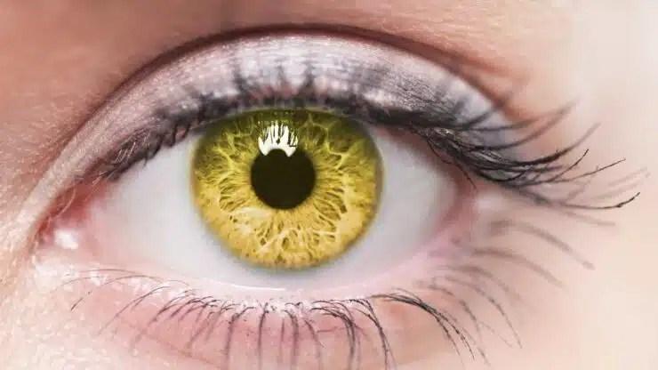 porque se ponen ojos amarillos