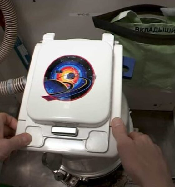 baño de estación espacial