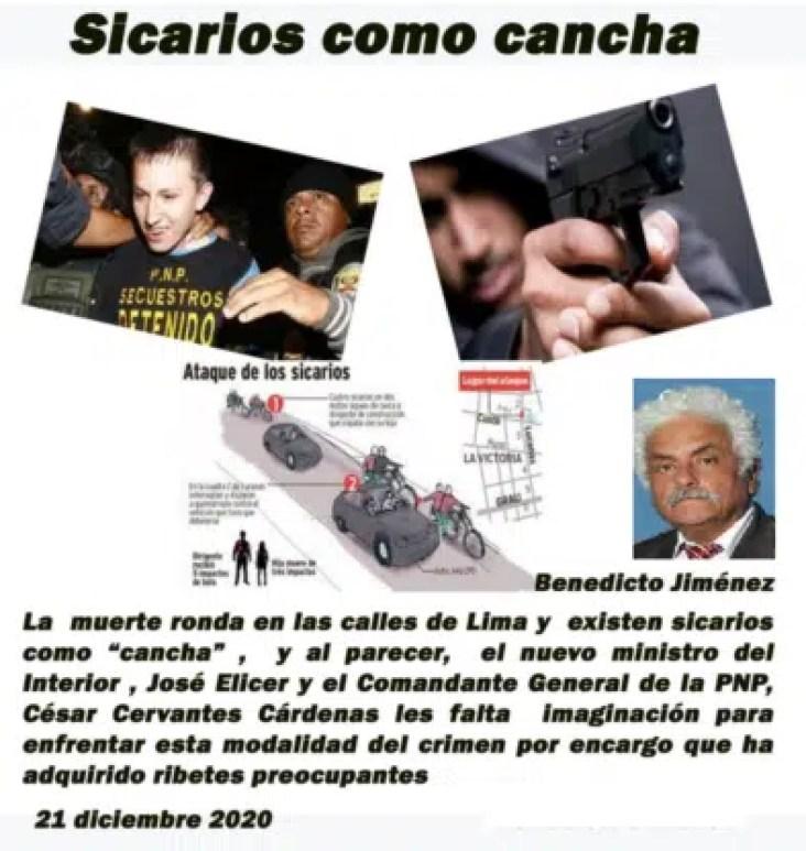 Sicarios como Cancha -Benedicto Jiménez