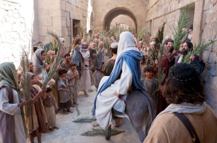 jesuscristo entranda triunfal a Jerusalén
