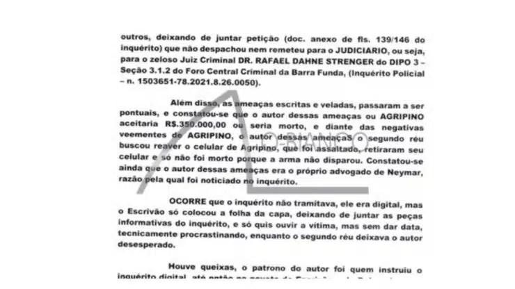 Exclusivo: Neymar es acusado en el tribunal de planificación de robo a mano armada