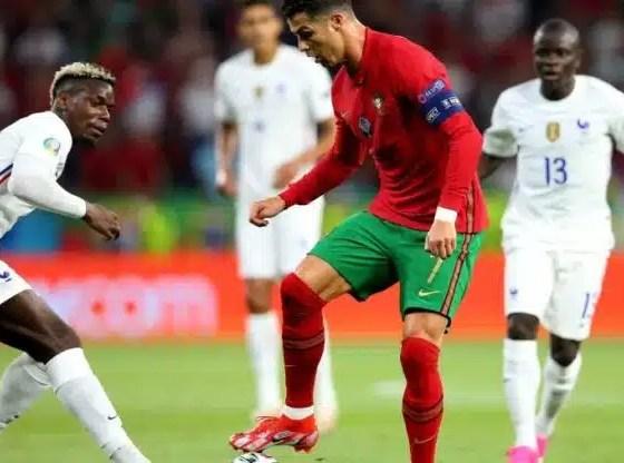 Portugal y Francia empatan con récord de CR7 y Benzema en Eurocopa