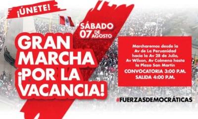 Marcha por la Vacancia de Pedro Castillo