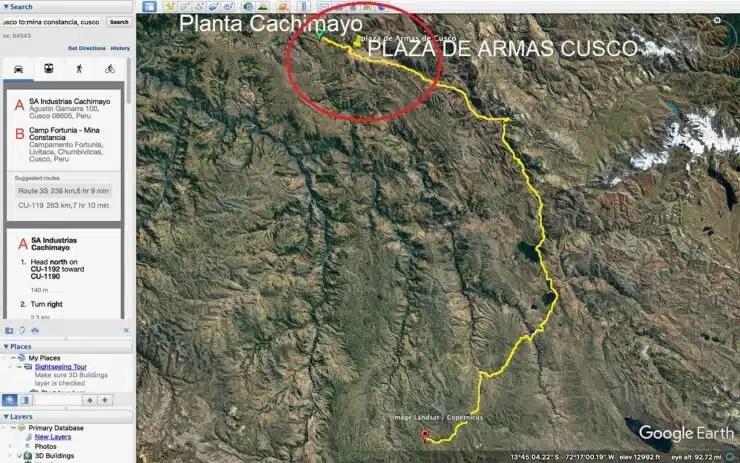 Ruta a Minas desde el Cusco
