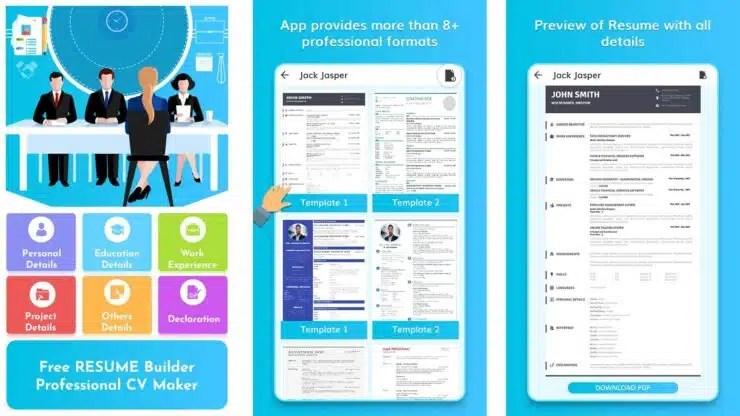APPS Para crear Currículum Vitae