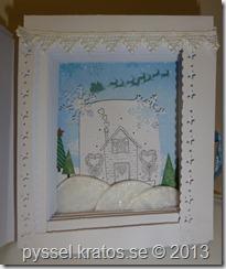 bokkort med snö insida