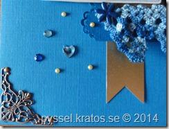 finklädda  - närbild på dekorationer