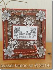 julkort med matchande kuvert närbild