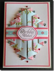 Double pleated card