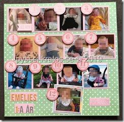 Layout Emelies första år