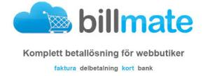 Betalsystem Billmate