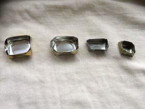 Metall lådor i miniformat