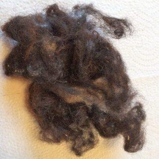 Mörkbrunt rakt ull till hår
