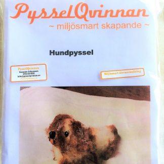 Hundpyssel paket med mellanstor ljusbrun päls