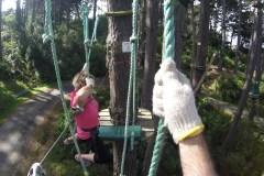 Mum flying across the stirrups