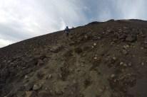 Up the rocky slope