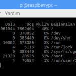 Küçük Dev Adam Rasbberry Pi 3 B+ için 1 Terabaytlık Harici Disk Bağlantısı