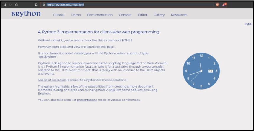 برمجة الويب بالبايثون - إطار Brython