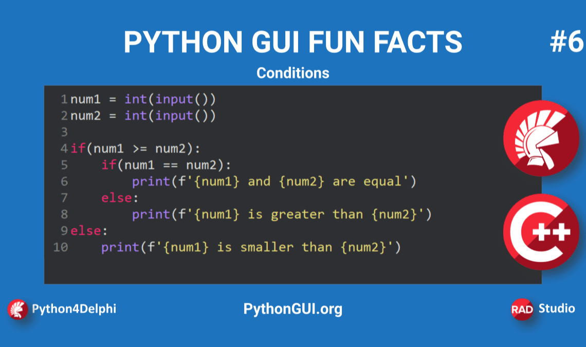 blog banner python conditions