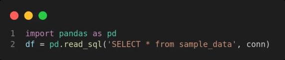 query the sqlite databasae using pandas
