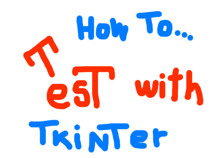 How to make a test with tkinter