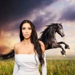 Kim Kardashian West Faces Backlash For Friesian Horses Tweet