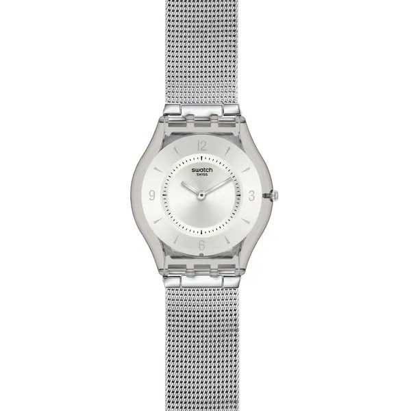 Swatch Classic Skin Watch, Metal Knit