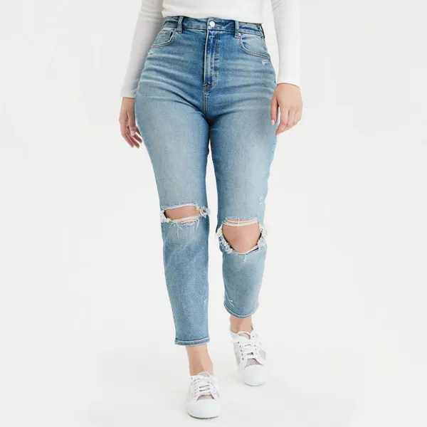 American Eagle Stretch Curvy Mom Jean