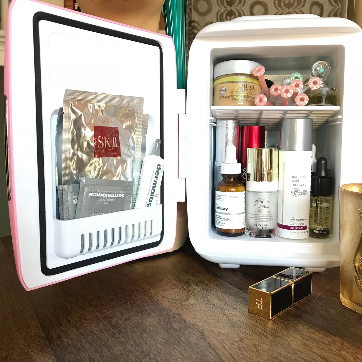 cooluli mini fridge for skincare review