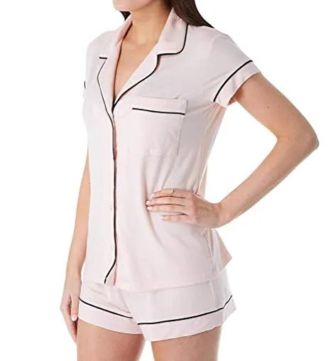 eberjey women s gisele two piece short sleeve short pajama sleepwear set