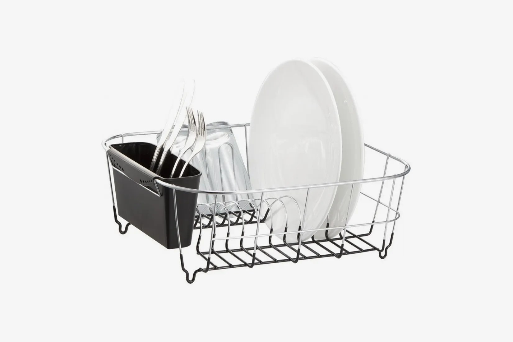 neat o deluxe chrome plated steel small dish drainer