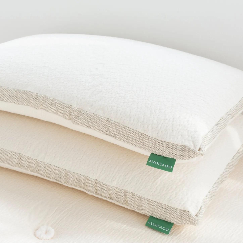 avocado molded latex pillow
