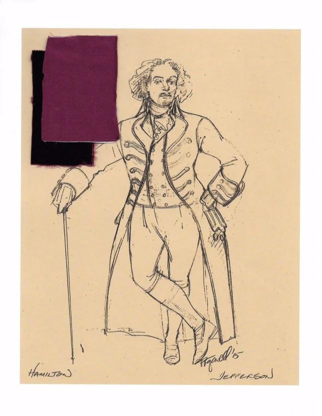 See the Original Sketches of Hamilton Costumes