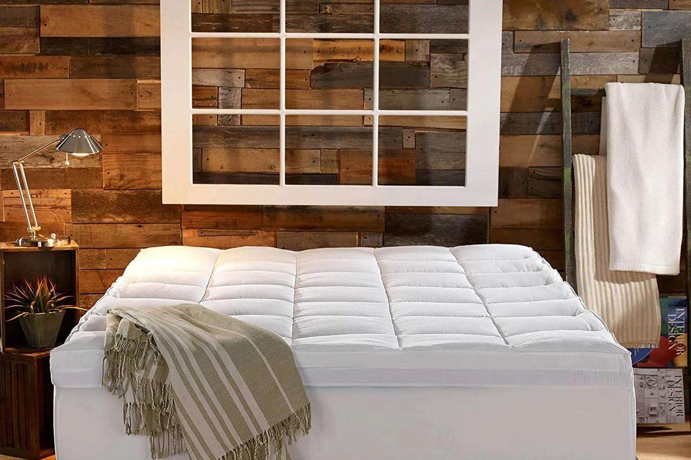 sleep innovations gel memory foam 4 inch mattress topper