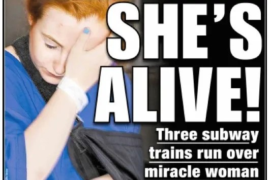 Woman Survives Being Run Over By 3 Subway Trains