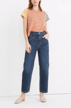 Rivet & Thread Madewell High-Rise Relaxed Straight Jeans in Fiske Wash