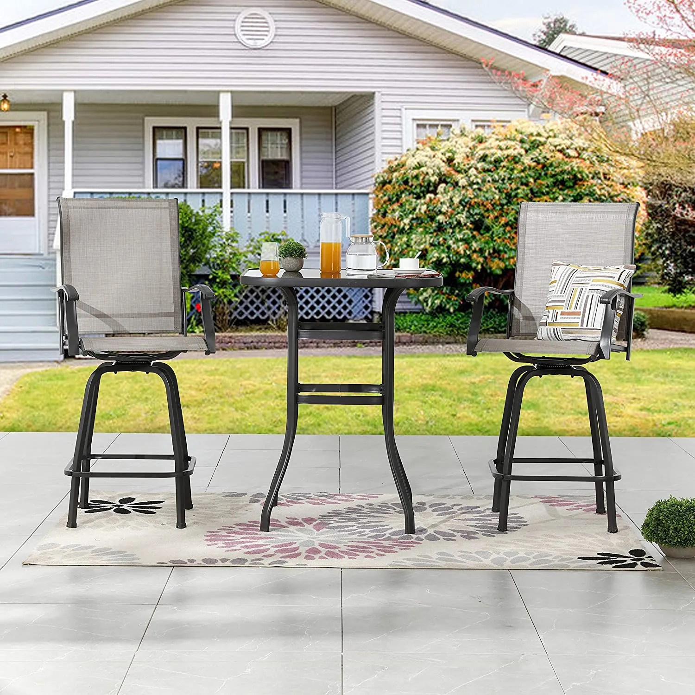 lokatse home 3 piece high top patio set