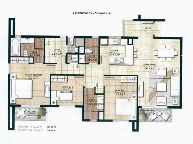 Three Bedroom Apartment Centrium Impz
