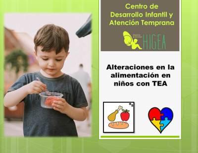 Alteraciones en la alimentación en niños con TEA
