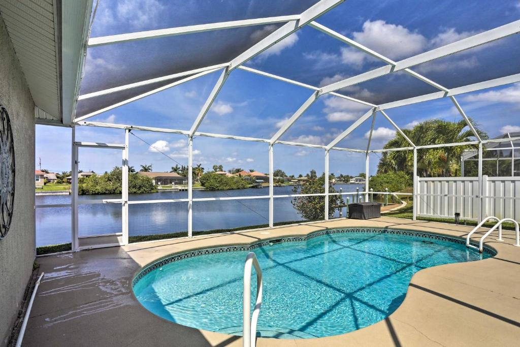 canalfront cape coral house with