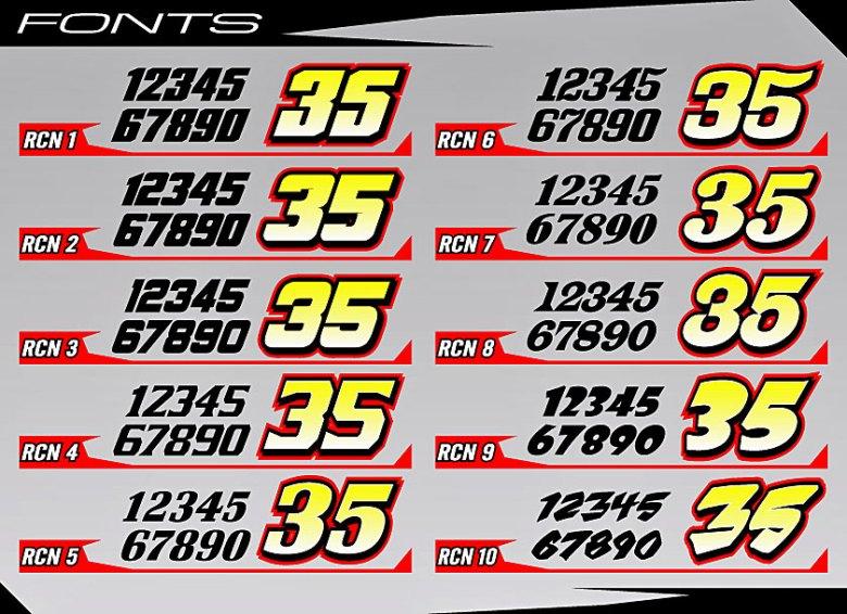 Cage Graphix - Race Car Graphics - Race Car Numbers - Cage Graphix - Race Car Graphics