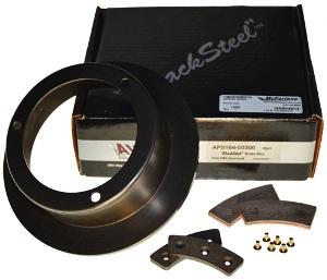 APS black steel brake discs