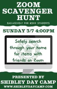 K-2nd Grade Virtual Scavenger Hunt